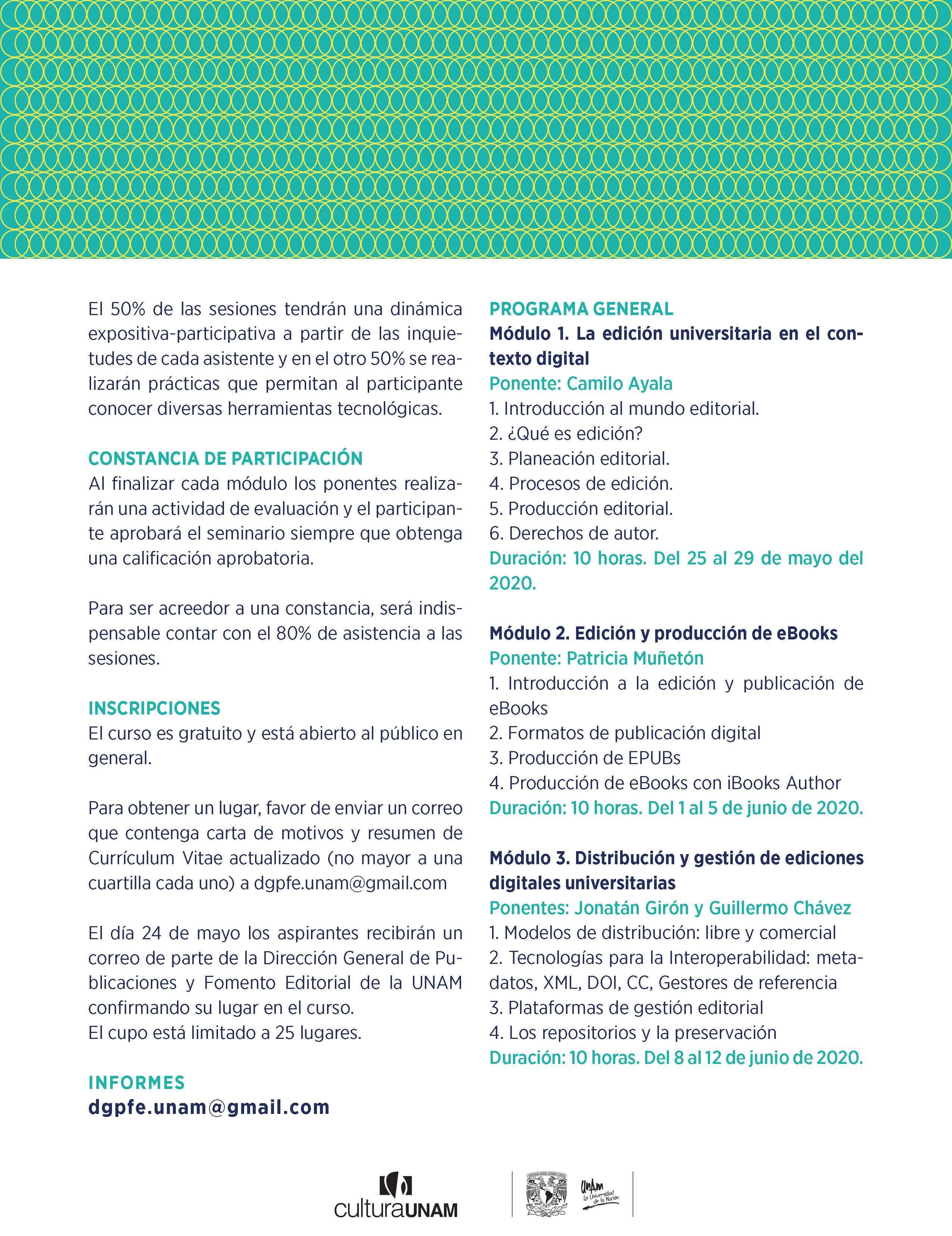 Seminario WEB para la edición y publicación digital del libro universitario